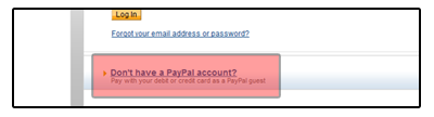 Pay without using PayPal